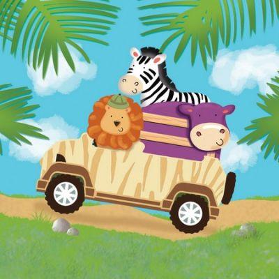 Safari Macerası 16 Lı Peçete