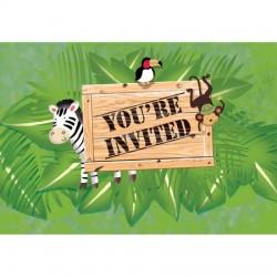 Parti Dünyası - Safari Macerası 8 li Davetiye