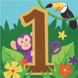 Parti Dünyası - Safari Partisi 1 Yaş Peçete 16 Adet