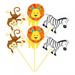 Parti Dünyası - Safari Partisi Şekilli 6 Lı Kürdan