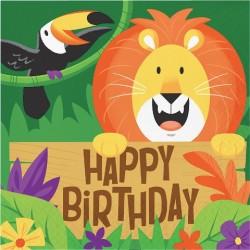 Parti Dünyası - Safari Partisi Happy Birthday Peçete 16 Adet