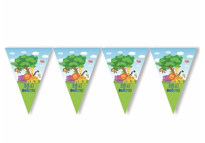 Safari Partisi İyi Ki Doğdun Bayrak Afiş