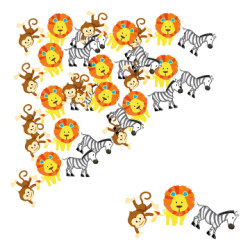 Parti Dünyası - Safari Partisi Masa Üzeri DEV Konfeti 15 Adet