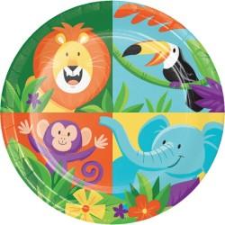 Parti Dünyası - Safari Partisi Pasta Tabağı 8 Adet