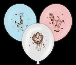 Parti Dünyası - Safari Temalı Baskılı Balon 6 Adet