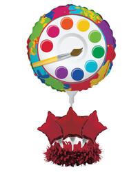 Parti Dünyası - Renkli Boyama Partisi Balon Kiti Masa Orta Süsü