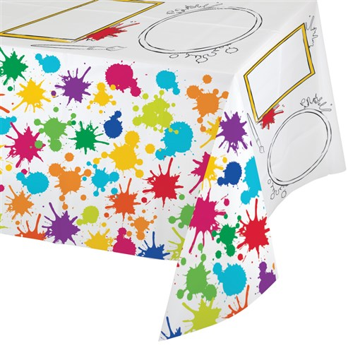 Renkli Boyama Partisi Oyun Aktiviteli Masa örtüsü Partidunyasicom