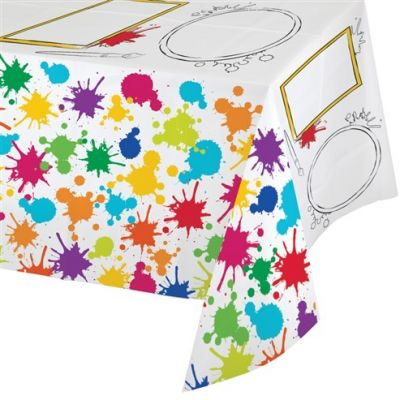 - Renkli Boyama Partisi Oyun Aktiviteli Masa Örtüsü