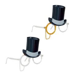Parti - Şapkalı Eğlenceli Parti Gözlüğü