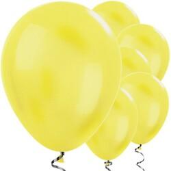 Parti Dünyası - Sarı METALİK Balon 10 Adet