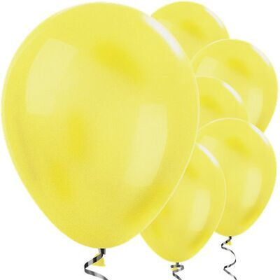 Sarı METALİK Balon 10 Adet