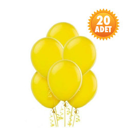 Parti - Sarı Renk 20 Li Latex Balon