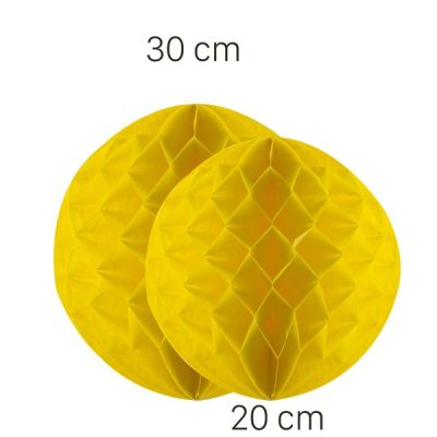 Sarı Renk Petek Süs Seti 2 Adet 30-20 cm