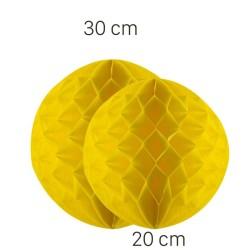 Parti Dünyası - Sarı Renk Petek Süs Seti 2 Adet 30-20 cm