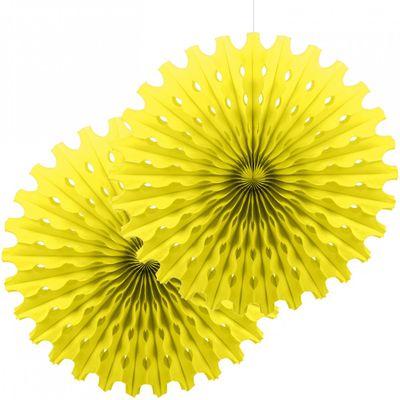 Sarı Renk Yelpaze Süs Seti 2 Adet 50 cm