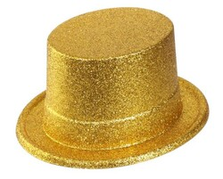 Parti Dünyası - Gold Simli Parlak Fötr Şapka