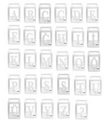 Parti - Şeffaf Kutu Harfi Beyaz A dan Z ye Seçiniz