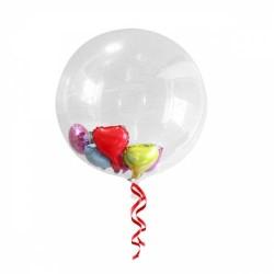 Parti Dünyası - Şeffaf Renk Küre Dev Balon 45 cm