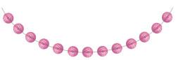 Parti Dünyası - Şeker Pembesi Mini Toplar Garlent 275 cm
