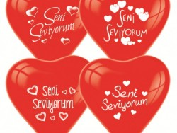 - Seni Seviyorum 10 Lu Balon