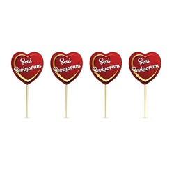 Parti Dünyası - Seni Seviyorum Kalp Kürdanlar 20 Adet 9 cm