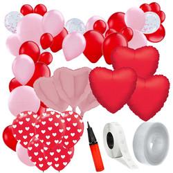 Parti Dünyası - Sevgililer günü Zincir Balon Yapım Seti