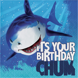 Parti - Sevimli Köpek Balığı Happy Birthday 16 lı Peçete