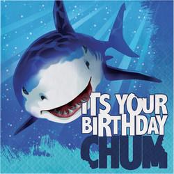 Parti Dünyası - Sevimli Köpek Balığı Happy Birthday 16 lı Peçete