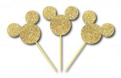 Parti Dünyası - Simli Altın Mickey Kürdan 3 Adet