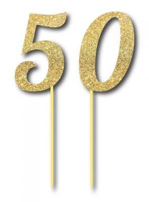 Simli Altın Renk 50 Yaş