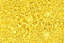 Parti - Simli Altın Renk Konfeti 20 Gr
