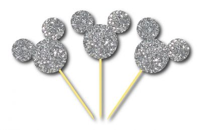 Parti Dünyası - Simli Gümüş Mickey Kürdan 3 Adet