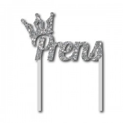 Parti Dünyası - Simli Gümüş Prens Çubuklu Yazı