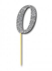 Parti Dünyası - Simli Gümüş Renk 0 Rakamı