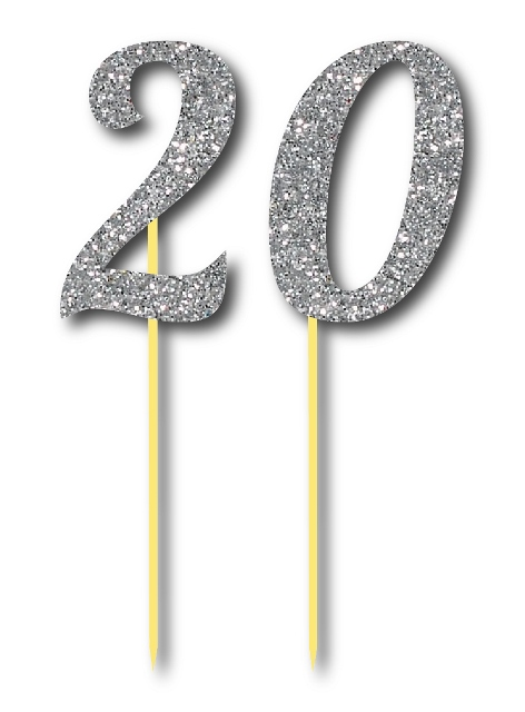 Simli Gümüş Renk 20 Yaş