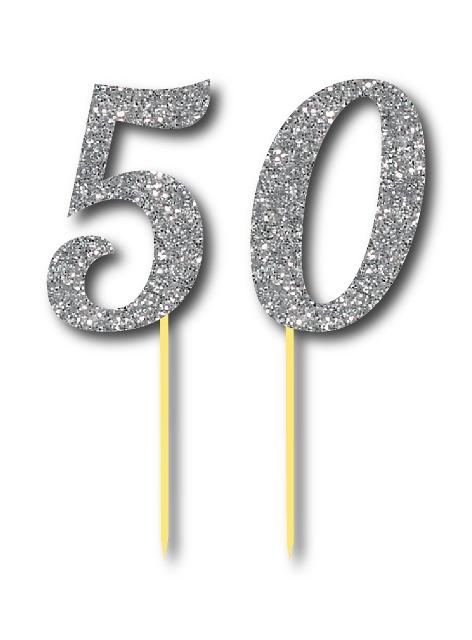 Simli Gümüş Renk 50 Yaş