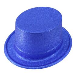 Parti Dünyası - Simli Parlak Mavi Fötr Şapka