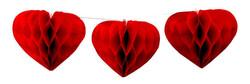 Parti Dünyası - Sıralı Kalp Petek Süsler En 400 Boy 10 cm 12 Adet