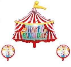 Parti Dünyası - Sirk Partisi Folyo Balon 3 lü Set 45 ve 84 cm