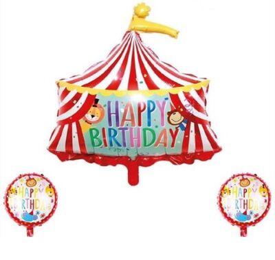Sirk Partisi Folyo Balon 3 lü Set 45 ve 84 cm