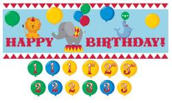 Parti Dünyası - Sirk Zamanı Yaş Stickerlı Dev Afiş