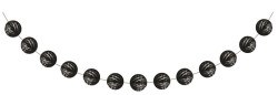 - Siyah Mini Toplar Garlent 275 cm