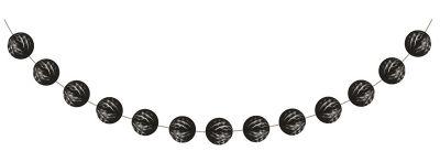Siyah Mini Toplar Garlent 275 cm