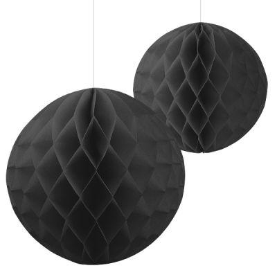 - Siyah Renk 2 Li Petek Süs / Dekor Set