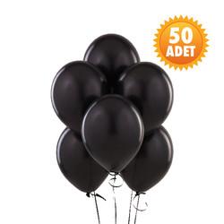 Parti Dünyası - Siyah Renk 50 Li Latex Balon