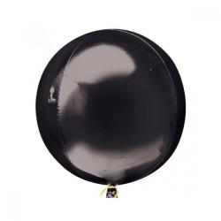 Parti Dünyası - Siyah Renk Küre Şeklinde Jumbo Boy Folyo Balon