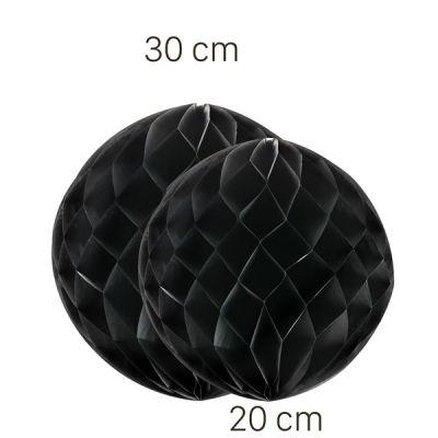Siyah Renk Petek Süs Seti 2 Adet 30-20 cm