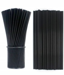 Parti Dünyası - Siyah Renk Pipet 100 Adet