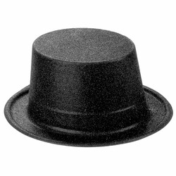 Parti Dünyası - Siyah Simli Parlak Fötr Şapka