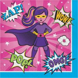 Parti Dünyası - Superhero Girl 16 lı Peçete